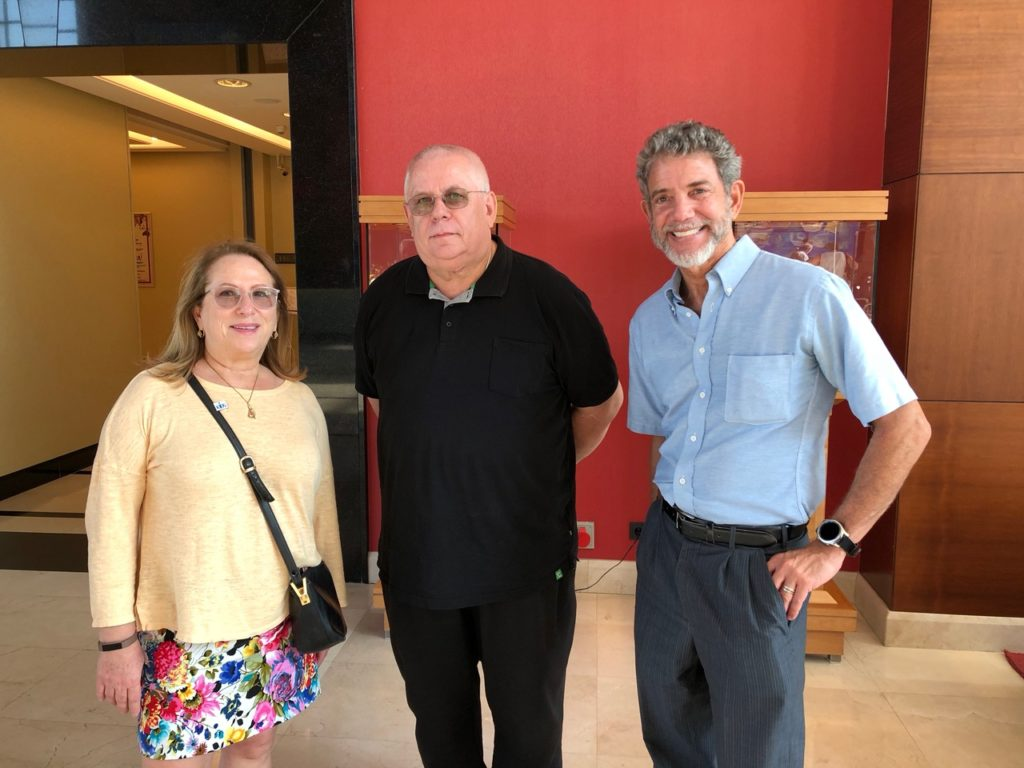 From left to right: Stefani Elkort Twyford, Jaroslaw Teklak, and Max Heffler, in Warsaw, Poland, August 2018. Image by Stefani Elkort Twyford.